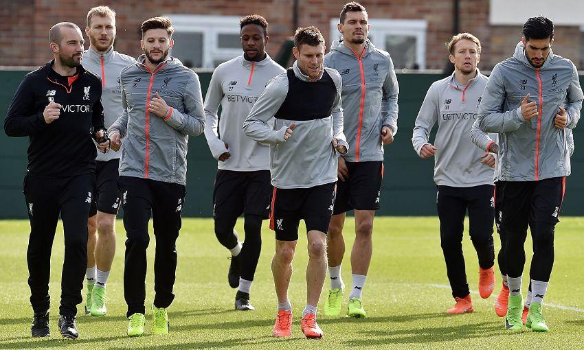Liverpool, pre-Burnley training