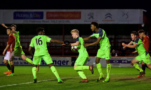 (Video) LFC U18s wipe the smile off Man Utd player with dramatic late equaliser