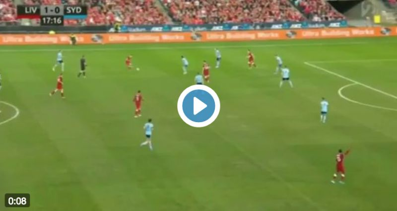 (Video) Firmino's assist for Moreno's goal v Sydney is.. A thing of beauty