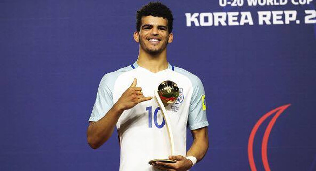 (Video) Dom Solanke scores classic striker's goal for England's U21s vs Scotland