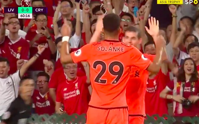 (Video) Solanke scores lovely Liverpool goal v Palace