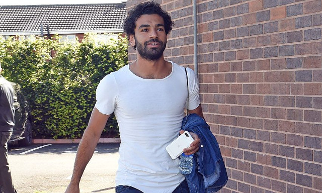 The best snaps from Mo Salah's first day at Melwood; including introduction to orange juicer