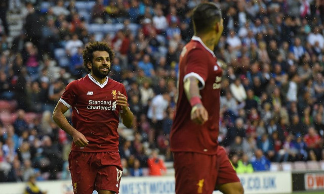 (Video) Mohamed Salah looks at home alongside Brazilian Reds on bright LFC debut