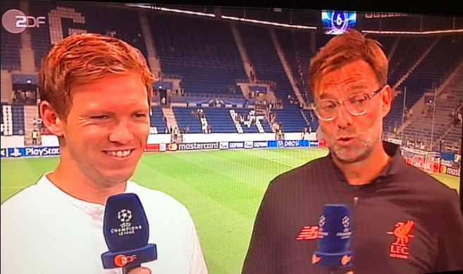 Nagelsmann has a possibility of taking over from Klopp providing his career 'remains on an upward curve'