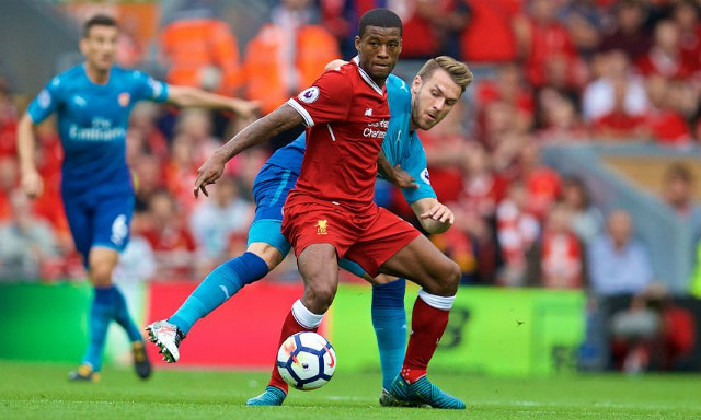 (Video) Wijnaldum ends Ramsey and Xhaka with sublime skill