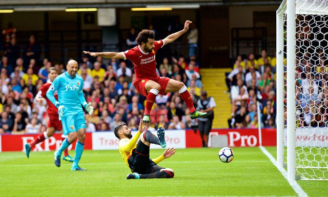 (Video) Mohamed Salah bags first LFC goal in Prem; shows excellent desire