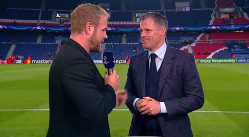 (Video) Carragher asks permission to say 'Sh*t', then says 'Sh*t'