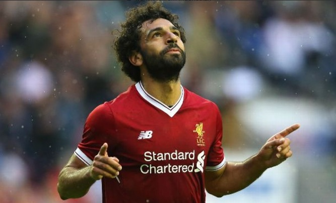 (Video) Mo Salah bags world-class header after Coutinho assist