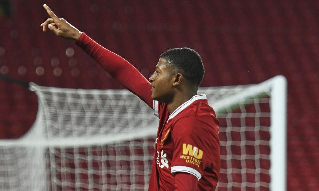 (Video) Rhian Brewster scores sublime Coutinho-esque free-kick for England U17s