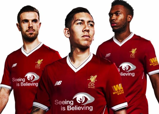 Liverpool to wear special new shirts v United on Saturday
