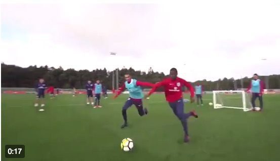 (Video) Trent A.A consistently humiliates poor England U21 team-mate in training