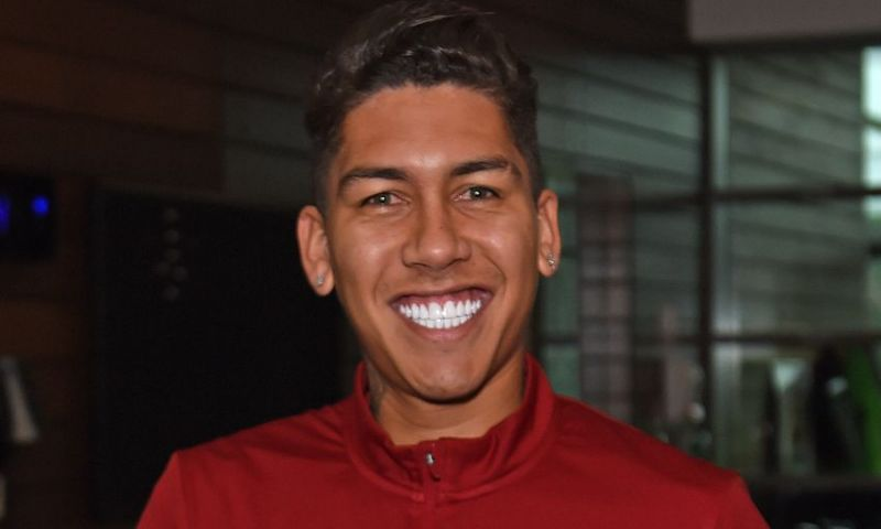 A clue as to why Roberto Firmino's teeth are so white…