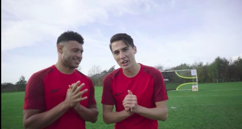 (Video) Oxlade-Chamberlain's forfeit challenge displays limited 'tekkers'