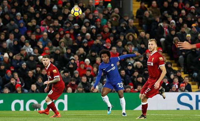 Willian, Chelsea, Liverpool