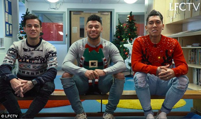 Watch Kid troll Ox in heartwarming LFC Christmas video…