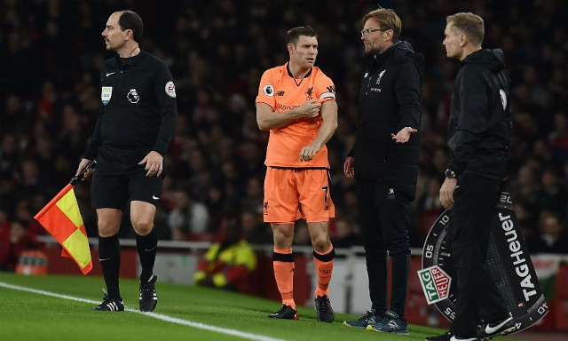 The James Milner comments causing a stir after draw at Arsenal…