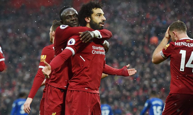 (Video) Salah scores 20th goal of the season with superb solo effort