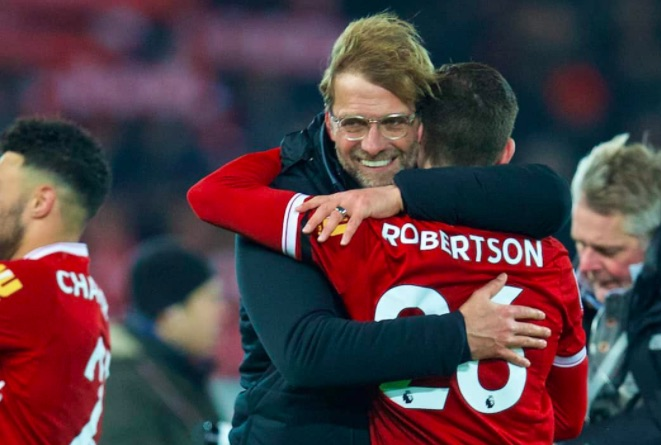 Jurgen Klopp defends Andy Robertson's performance against Napoli