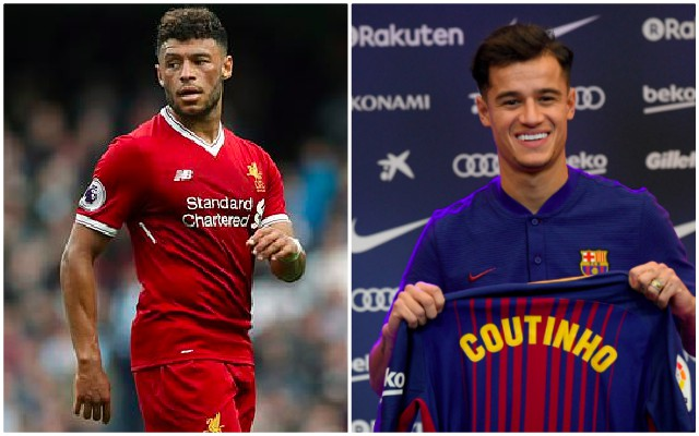 Oxlade-Chamberlain 'likes' Coutinho rejecting Spurs
