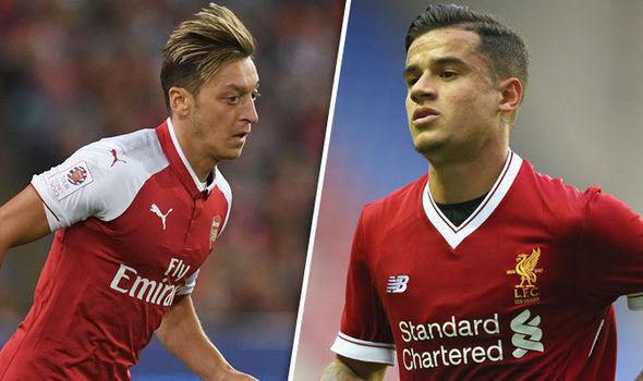 LFC fans discuss Mesut Ozil as potential Coutinho replacement