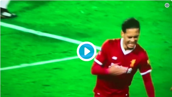 Watch Van Dijk's epic badge thumping celebration for Liverpool in FA Cup madness