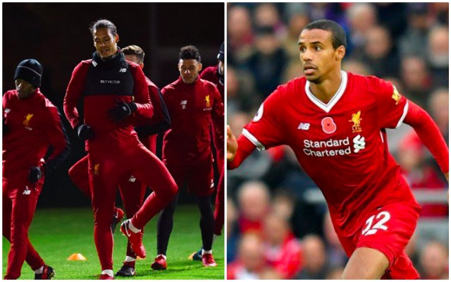 LFC centre-back 'Not Worried' Virgil van Dijk will take his place…