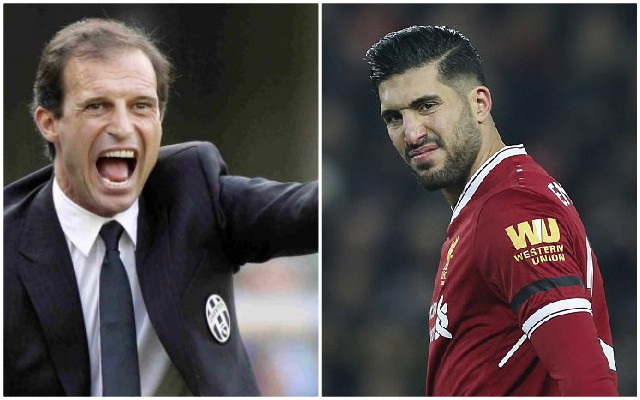 Allegri says Emre Can can't play as a holding midfielder