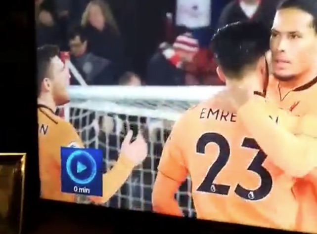 (Video) Poor Andy Robertson got pied by Van Dijk last night…
