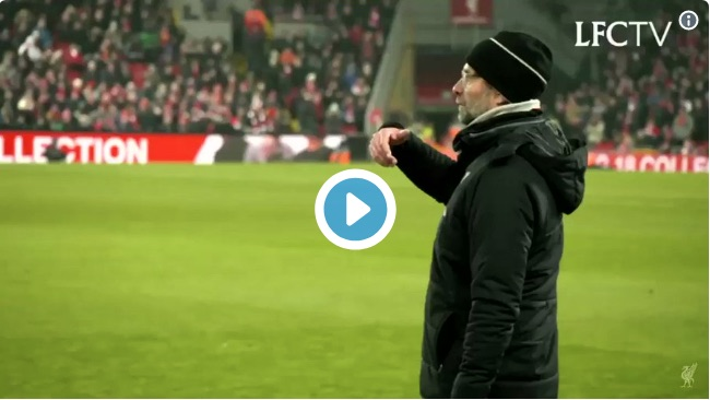 (Video) Footage emerges of Liverpool's furious/hilarious touchline reaction & Salah's paddy after ref blunder