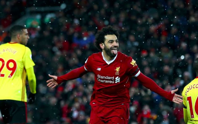 (Video) Mo Salah scores mind-boggling 'Messi goal' to complete first LFC hat-trick