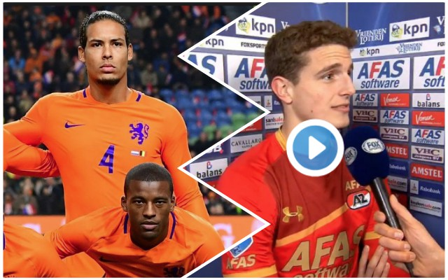Holland international supports LFC and wants to play with Van Dijk & Gini