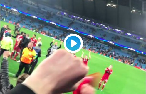 (Video) Epic Away End Celebrations; Klopp claps along to 'Allez Allez Allez'