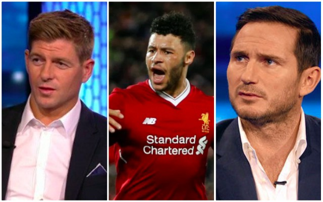 (Video) Difference in Gerrard & Lampard's reaction to Ox screamer is great