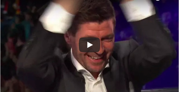 (Video) Watch Gerrard passionately celebrate Salah's stunner