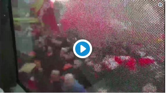 (Video) James Milner filmed from inside the LFC bus welcome and it's insane…