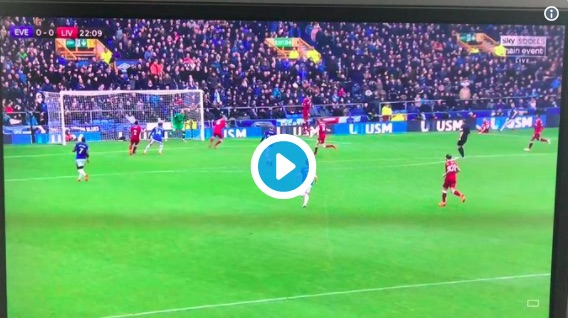 (Video) Karius pulls off stunning 'De Gea save' for Liverpool v Everton