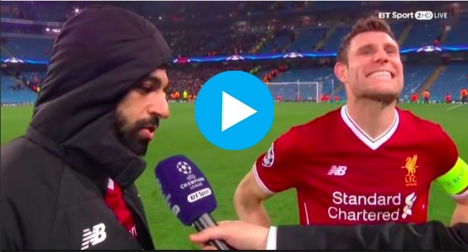 Hilarious: Mo Salah misunderstands Question & Milner gets the giggles