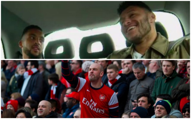 Ox & Walcott both make subtle hint about Arsenal fans before Merseyside Derby