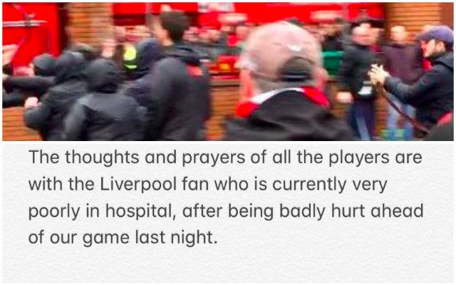 Henderson offers support for stabbed LFC fan following cowardly Roma attack