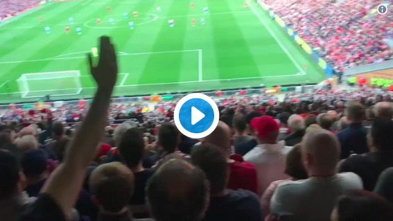 (Video) The Fan Footage of Salah's epic header is amazing…