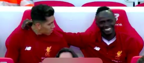 (Video) Firmino and Mane caught 'celebration planning' on bench v Bournemouth