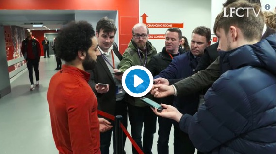 (Video) Watch Van Dijk trolling Mo Salah in the Mixed Zone