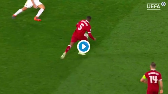 (Video) Watch Wijnaldum's 'Zidane moment' in the 2nd-half