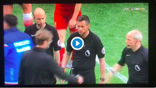 (Video) Klopp snubs handshake from linesman after shocking penalty miss