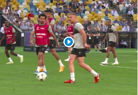 (Video) Milner curls in beauty during stadium training session
