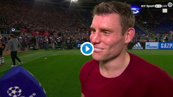 (Video) James Milner says he'll party on Ribena after LFC reach CL Final…