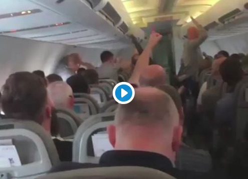 (Video) Liverpool fans having a great time on plane to Kiev…
