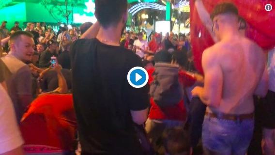 (Video) LFC fans partying in Kiev last night