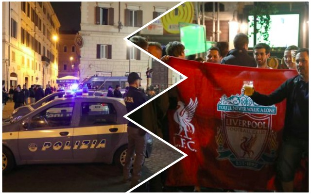 LFC fans attacked with metal bar in Rome
