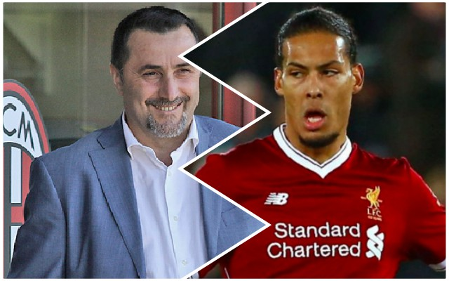 AC Milan director disrespects Virgil van Dijk with stupid comments